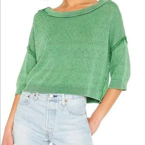 Free People Sand Castle Pullover Top Sweater